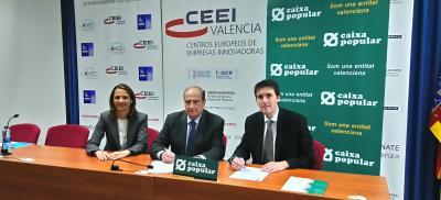 Firma del Convenio de Colaboración entre CEEI Valencia y Caixa Popular