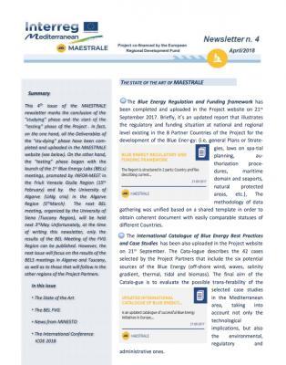 MAESTRALE Newsletter 4
