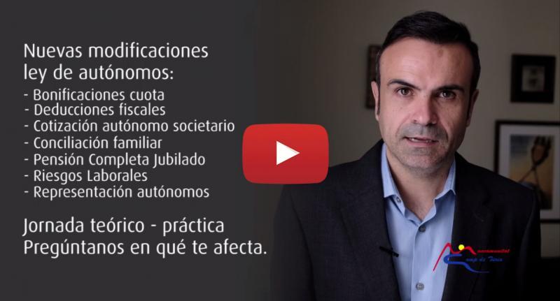 CONFERENCIA MODIFICACIONES LEY DE AUTONOMOS MANCOMUNITAT CAMP DE TURIA