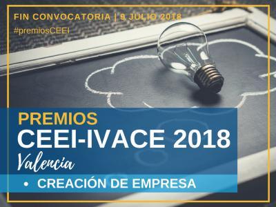 Premios CEEI-IVACE 2018 Valencia. Creación de Empresa