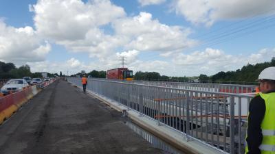 Remodelación Viaduc de Rouvignies por Metalesa Seguridad Vial