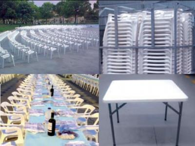 Alquiler de mesas y sillas para eventos