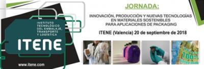 jornada innovación, producción y nuevas tecnologías en materiales sostenibles para aplicaciones de packaging