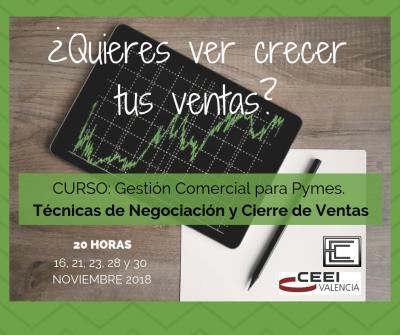 Curso Gestión Comercial para pymes, Valencia