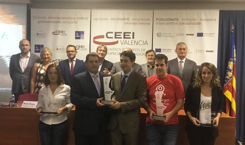 ganadores de los Premios CEEI-IVACE Valencia 2018