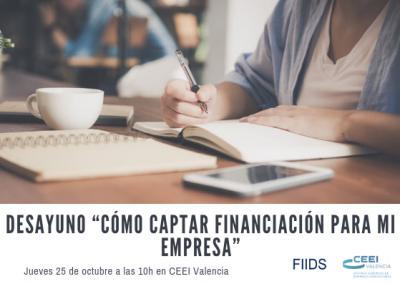 """Desayuno """"Cómo captar financiación para mi empresa"""""""