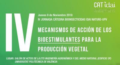Programa IV Jornada: Cátedra Bioinsecticidas IDAI Nature-UPV
