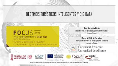 Destinos turísticos inteligentes y Big Data