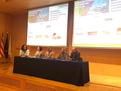 Mesa redonda Bioecconomía y sostenibilidad: AINIA, IATA-CSIC, Visualnacert, Ingelia y CO2zero
