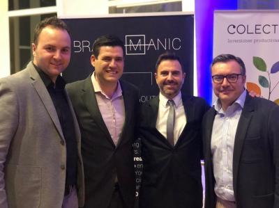 Brandmanic (de izquierda a derecha) Iñaki Zubeldia, CMO/COO de Brandmanic, Isaac Herrero, CCO, Luis  Soldevila, CEO y Javier Galdón, gerente