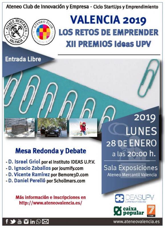 Mesa redonda Los retos de emprender. XII Premios Ideas UPV