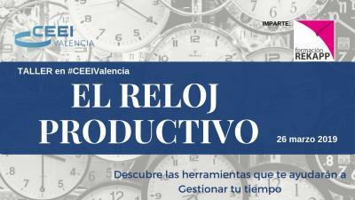 Cartel Curso Gestión del Tiempo Valencia 2019