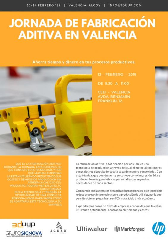 Jornada Fabricación Aditiva 3DUUP