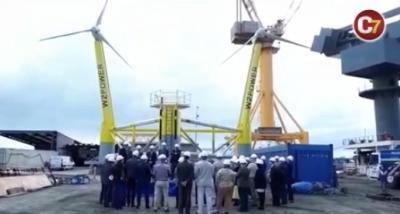 Canarias testa la primera plataforma eólica flotante de España