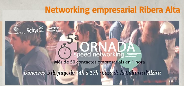 Networking Empresarial Ribera Alta, 5 de junio en Alzira