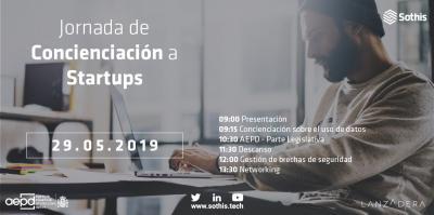 Jornada de concienciación sobre el uso de datos a startups