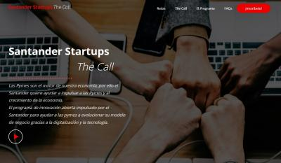 Cartel Santander Startups The Call