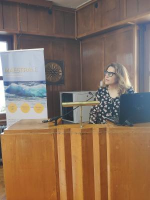 Carmen Renovell, presentando los resultados de CEEI Valencia