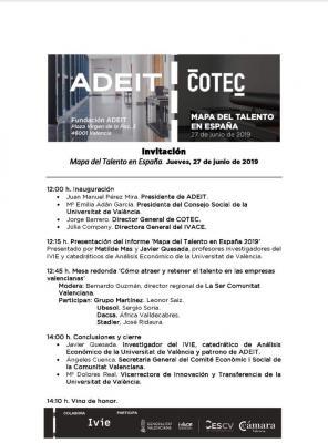 Programa El Mapa del Talento en España 2019