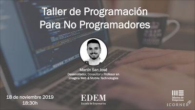 Taller gratuito de programación para no programadores