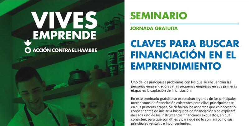Cartel Progr Vives Emprende Sesión Alternativas Financiación Valencia