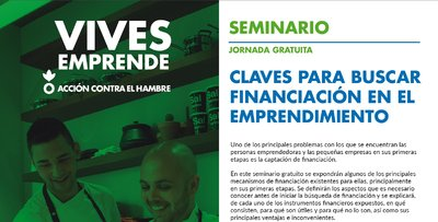 Cartel Progr Vives Emprende Sesión Alternativas Financiación Valencia