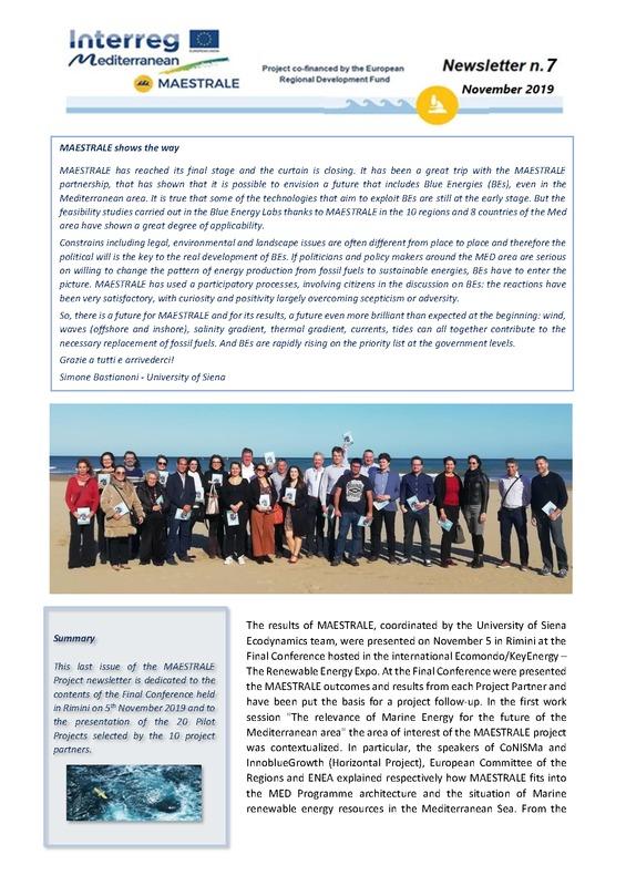 MAESTRALE Newsletter 7
