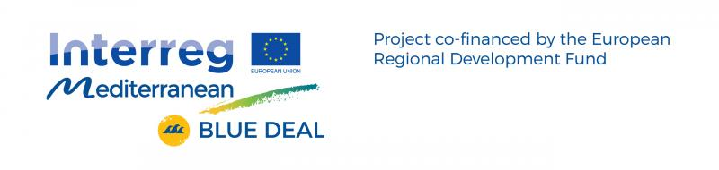 Logo Blue Deal project + ERDF