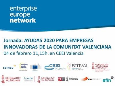 imagen Cartel jornada ayudas ivace 2020 CEEI Valencia