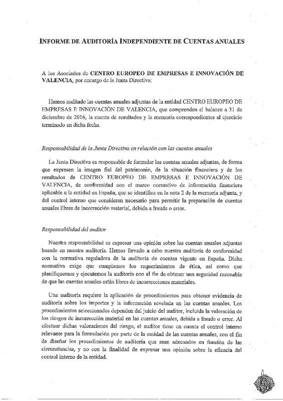 Informe Auditoria CEEI VLC 2016 (Portada)