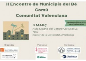 II Encuentro de Municipios del Bien Común de la Comunidad Valenciana