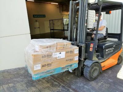 ADBioplastics preparando el pedido de PLA-Premium con destino Huesca