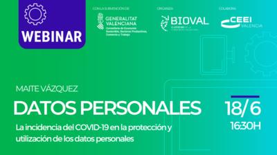 """Webinar """"La incidencia del COVID-19 en la protección y utilización de los datos personales"""""""