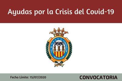 Convocatoria ayudas por la crisis del Covid 19 del ayuntamiento de Monóvar