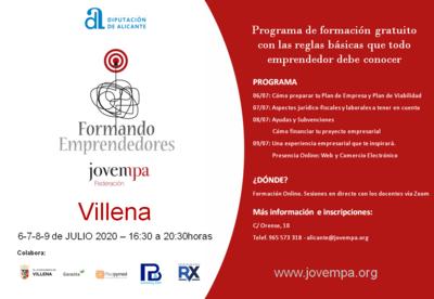 Formando Emprendedore Villena 2020