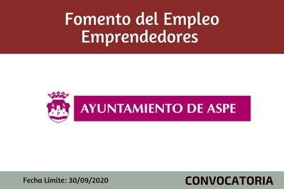Ayudas Fomento de Empleo Emprendedores - Ayto de Aspe