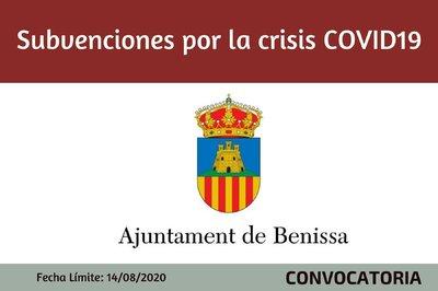 Ayudas por CRISIS  COVID19 - Ayuntamiento de Benissa