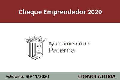 Cheque emprendedor 2020 Paterna