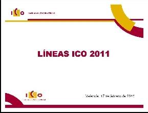 ICO Líneas de financiación 2011 #