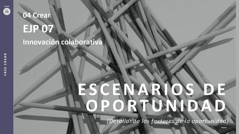 CREAR 04 Escenario de Oportunidad EJP 07 Innovación colaborativa