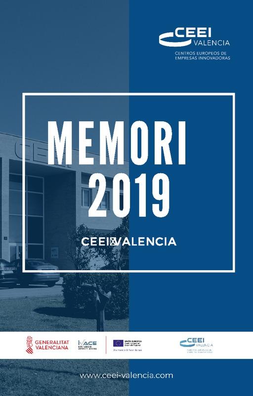 Memoria Anual 2019 CEEI Valencia (Portada)