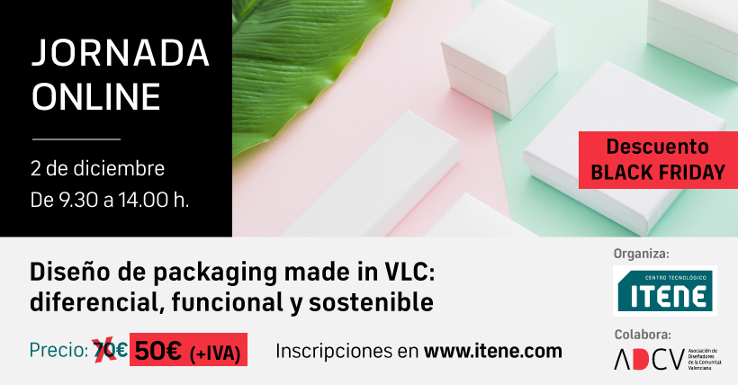 Jornada online – Diseño de packaging made in VLC: diferencial, funcional y sostenible