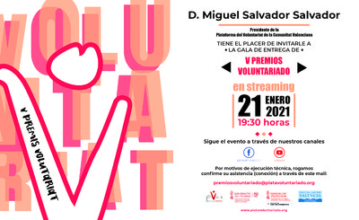 V Edició Premis Voluntariat 2020