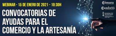"""Webinar informativo sobre la convocatoria """"Ayudas comercio, consumo y artesanía en Comunitat Valenciana"""""""