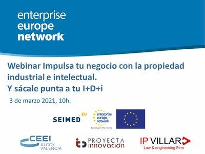 Cartel webinar propiedad intelectual patentes
