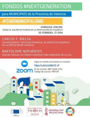 Webinar Fondos Next Generation para Mancomunidades y Municipios de la provincia de Valencia