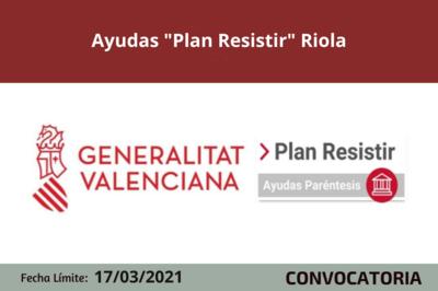 """Ayudas """"Plan Resistir"""" en Riola"""