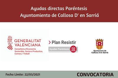 Ayudas Económicas Covid 19 - Ayuntamiento de Callosa d'En Sarrià