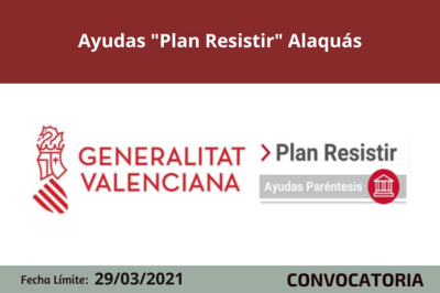 """Ayudas """"Plan Resistir"""" en Alaquàs"""