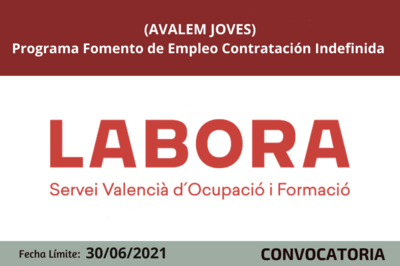 Programa Fomento de Empleo Contratación Indefinida (AVALEM JOVES)